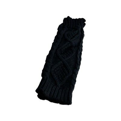 Womens Cashmere Protection Knitted Wool Long Fingerless Arm Warmers Gloves V7J2