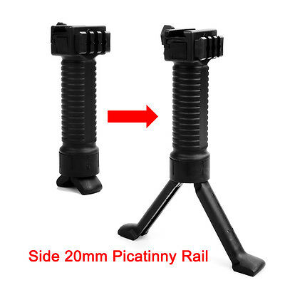 Tactical Rifle Bipod Front Grip Vertical Foregrip 20mm Picatinny Weaver Rail