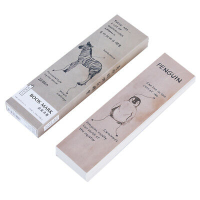 Paper Bookmark Creative Animal Book Sharing Mark Book Stationery Boxed Label OE