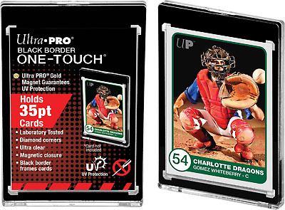 Ultra Pro UV ONE TOUCH Black Border 35pt Magnetic Closure Card Protector