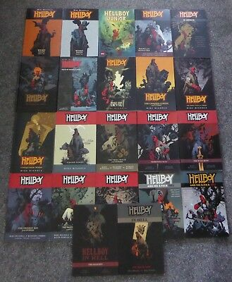 HELLBOY massive graphic novel set 1-12 + in hell 1-2 + more (22 in total)