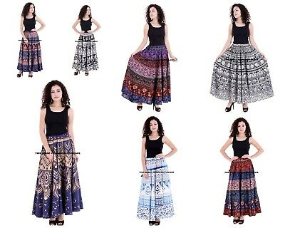 Indian Traditional Cotton Mandala Maxi Skirt Bohemian Hippie Ballet Dancing Dres