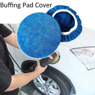 1/5/10pc Auto Car Polisher Waxing Soft Microfiber Polishing Bonnet Buffing Cover