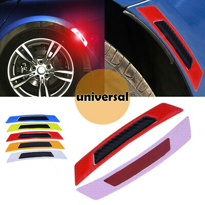 Red Reflective Safety Mark Strips Car Door Stickers Warning Tape Auto Decal