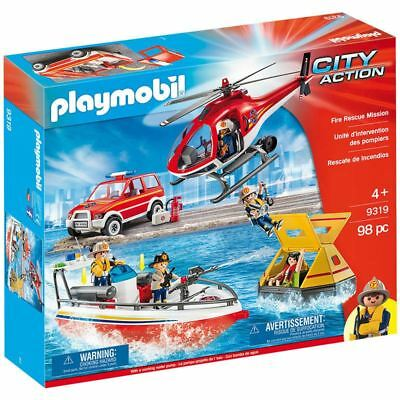 Playmobil City Action Fire Rescue Mission 9319 98 Piece Toy Playset