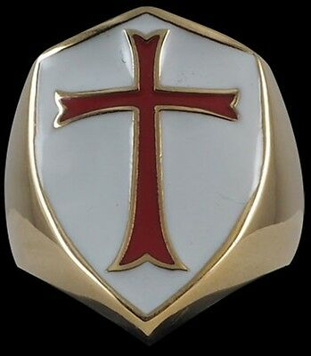 Bronze Crusader Cross Knights Templar Ring Custom size medieval handmade church