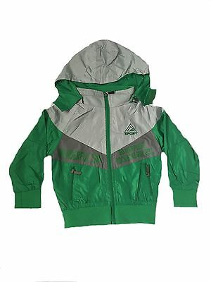 Boys Light Summer Jacket With Hood, Size 4, 6, 8, 10 & 12 years Red