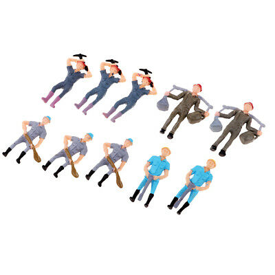 1/43 Worker People Action Figure Model Toys HO for Train Railway Accessories