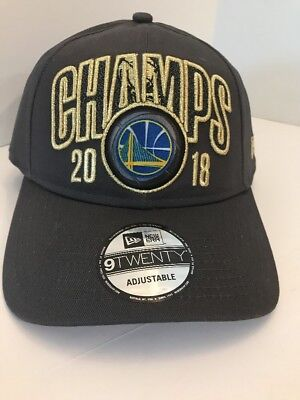5beac43f1fa20 Golden State Warriors New Era 9TWENTY 2018 NBA Finals Champs Locker Dad Cap  Hat