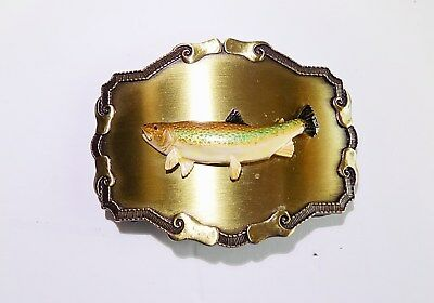 Vintage Raintree Rainbow Trout Belt Buckle