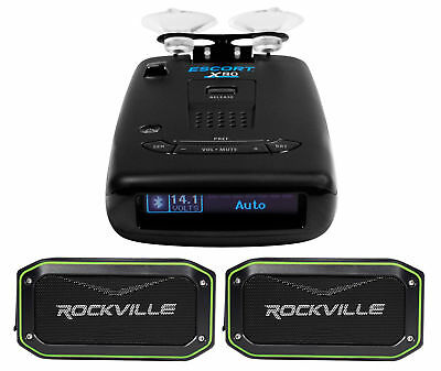 Escort X80 Long Range Radar Laser Detector w/Bluetooth+Voice Alerts+Speakers