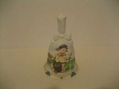 Goebel-1996-Spring Blossoms BH1002-Art of Berta Hummel Bisque Bell