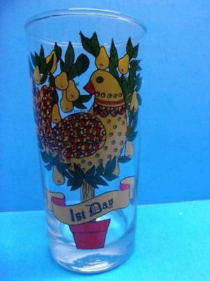 12 Days of Christmas Drinking Glass Replacement 1st Day Partridge in a Pear Tree