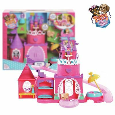 New Puppy In My Pocket Pretty Pet Palace Playset & 2 Puppy Figures Official