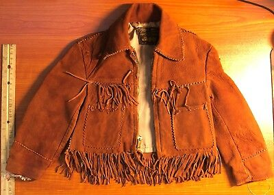 Western Trail - Kids Leather Jacket - Made in California - Vintage - 1970s ?