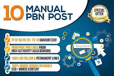 10 Manual Pbn Post Dofollow Backlinks High Quality
