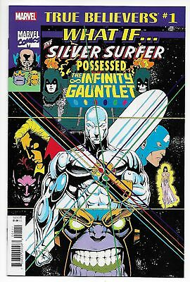 True Believers What If Silver Surfer Possessed Infinity Gauntlet #1 (2018) NM