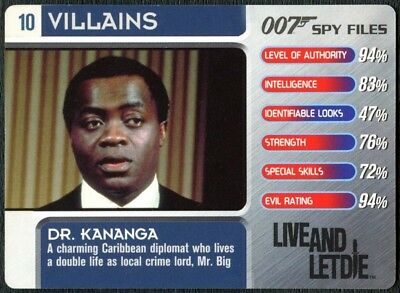 Dr Kananga #10 Villains 007 Spy Files 2002 James Bond Trade Card (C1855)