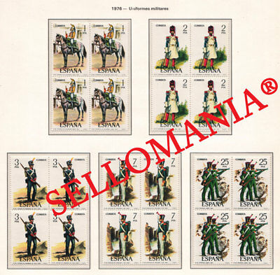 1976 Uniformes Militares Military Uniforms Army   2350 / 54 ** Mnh B4 Tc21655