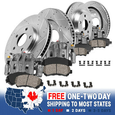 Front And Rear OE Brake Calipers & Rotors + Pads For Cadillac Eldorado Seville
