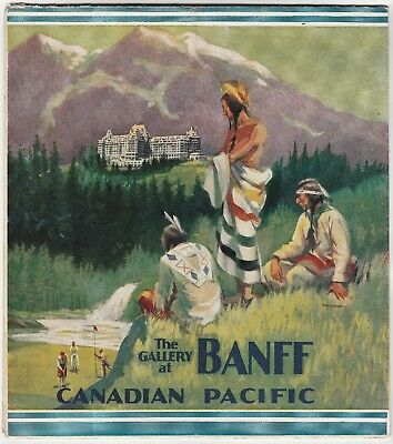 RARE LG Travel Brochure Booklet - Banff Canadian Pacific RR 1930 Indian Golf MAP