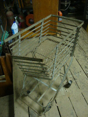 Art Deco Collapsible Shopping Market Cart Basket Buggy Industrial Steampunk