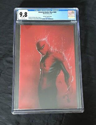 Amazing Spider-Man #800 Cgc 9.8 Dell'Otto 1:200 Virgin Variant White Pages