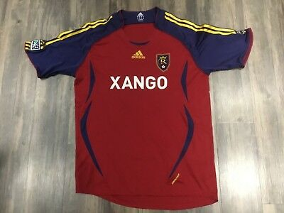 ADIDAS MENS REAL Salt Lake MLS Soccer Jersey Xango Size XL men s ... 5d0922bb7
