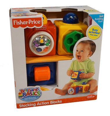 Brilliant Basics Stacking Action Blocks: Classic Play to help baby's development