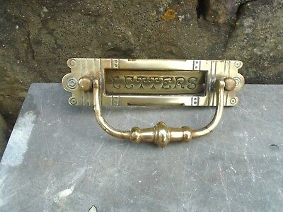 Attractive Late 19Th,early 20Th Century Brass Letterbox