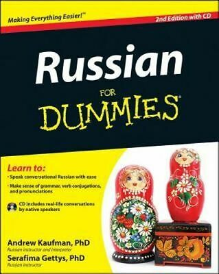 NEW Russian For Dummies By Andrew Kaufman Paperback Free Shipping