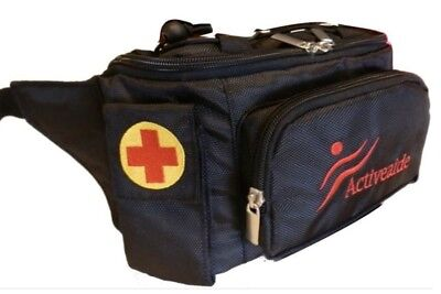 Insulated medical waist bag - BLACK - Epipen / Anaphylaxis - By Activeaide