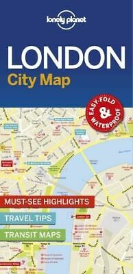 NEW London City Map By Lonely Planet Folded Sheet Map Free Shipping