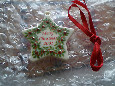 Longaberger Merry Christmas 2001 Tie-On - Ceramic - NIB