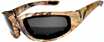 Motorcycle CAMO Padded Foam Sport Glasses Smoke Polarized Lens Owl Color:Camo3_s