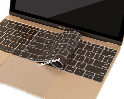 Universal soft silicone keyboard cover film for Macbook Pro 2 pcs(Black+Clear)