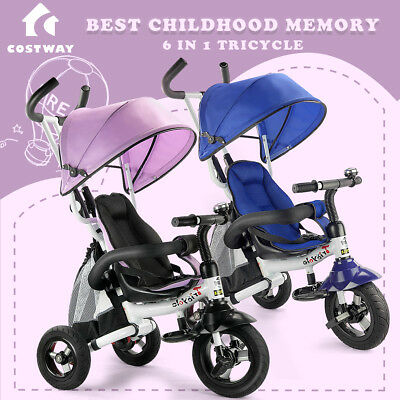 Kids Baby Toddler Stroller Tricycle Learning Bike Ride on Trike Pram Gift