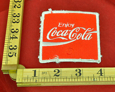 """VINTAGE COCA-COLA EMBROIDERED 3/"""" x 3/"""" PATCH NOS COKE"""