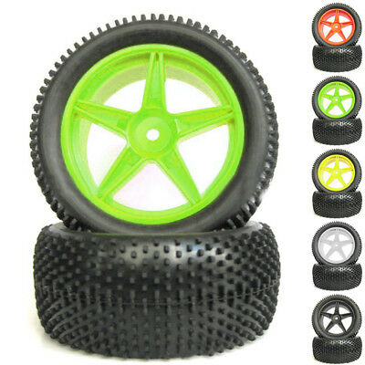 4pcs Front & Rear Buggy Tires Wheel For 1:10 RC HSP HPI Off Road Car Truck New