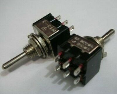 1x MINI DPDT Guitar ON ON ON Toggle Switch BK