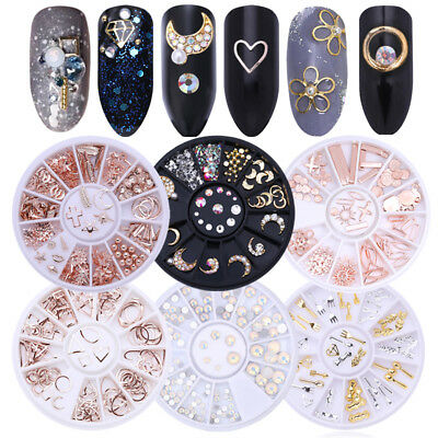 Glitter Gems 3D Nail Art Rhinestones Acrylic Tips Sticker Manicure Decorations