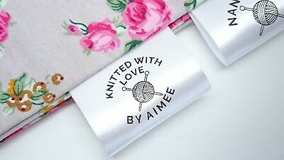 Personalised Sew In Clothing Knitting Label Craft Business Handmade Bespoke