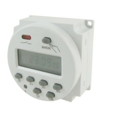 C5Y7 DC 12V Digital LCD Power Programmable Timer Time Switch Relay 16A Amps I4N9