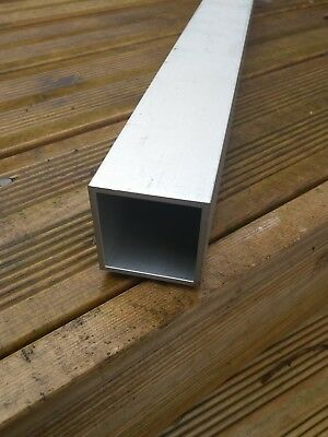50mm x 50mm x 3mm. 1metre  silver anodised aluminium box section.