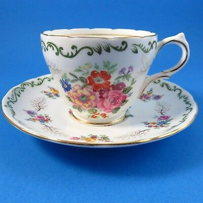 Grosvenor Pretty Floral Bouquet Tea Cup and Saucer Set