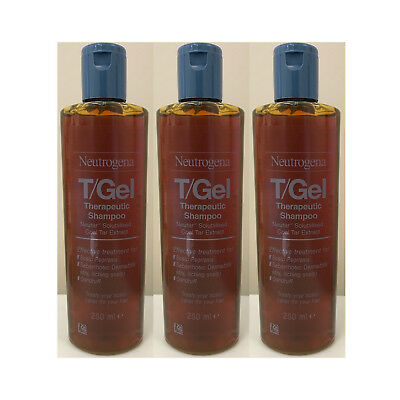 3 X Neutrogena T/Gel Therapeutic Shampoo Large 250ml - only £19.99!!