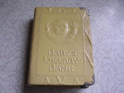 Neat Vintage Baby's Lullaby Bank for Coins and Bills Zell Products Inc NY NO KEY
