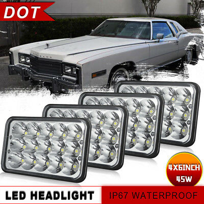 4x6 inch Hi-Lo Seal Led Headlight Rectangle for Peterbilt Kenworth Car Truck 4WD