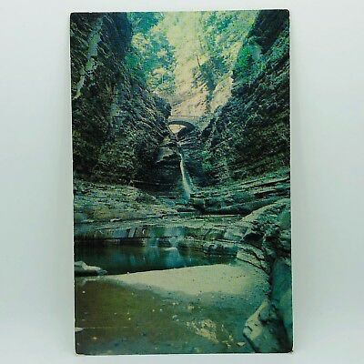 "Postcard New York Central Cascade ""The Poet's Dream Cathedral"" Watkins Glen C-7j"