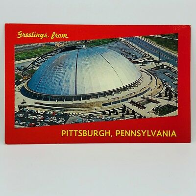 Postcard Pennsylvania Greetings from Pittsburgh PA Public Auditorium Dome C-8a